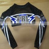 Specialized Custom Made Cheerleader Clothes, Fashionable Long Sleeves Cheerleader Uniforms