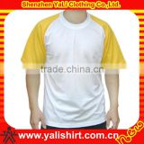 Cheapest fashion simple o-neck short sleeve blank fitness baseball tee shirts wholesale