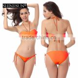 11 pure colors Bikini large size beautiful xxx sex china bikini girl photos swimwear chest pad swimwear
