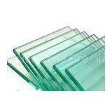 3mm / 4mm Clear Float Flat Tempered Glass / Toughened Glass For Cabinet , Solid Structure