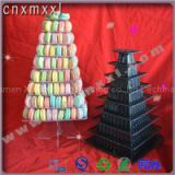 Macarons Square Plastic Tower Stand