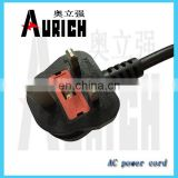 british socket copper welding cable low voltage power cable Power cable Uk style BS approval mains lead fused 13AMP