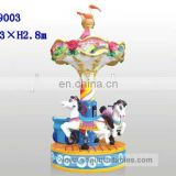 AOQI big discount high quality Three Persons Flower and horse Carrousel