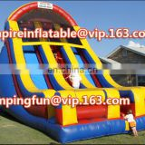 Commercial grade inflatable double lane water slide medium size water slide for kids/adults ID-SLM073
