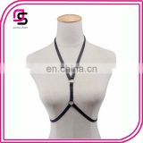 high quality elastic garter belt gothic lady harness bra rave wear sexy women top cage lingerie