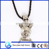 Zinc alloy leather cord Halloween necklace