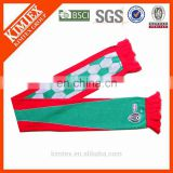 Promotional poland custom woven knitted football scarf