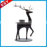 Hot Sale Best Quality Beach Metal Butterfly Oriental Deer Reindeer Candle Lantern Holder
