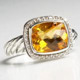 Inspired DY Sterling Silver 8x10mm Citrine Noblesse Ring