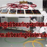 Air caster rigging systems designed to moving heavy duty loads