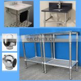 stainless steel bathroom console leg, chrome vanity base