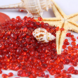 China factory swimming pool landscaping decoration red glass bead aggregates