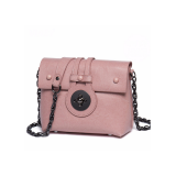 New one-shoulder bag Korean version of the slanted women's bag fashion chain leather small square bag