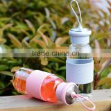double wall glass bottle/clear glass bottle