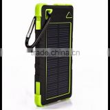 2015 high quality 8000mAh power bank solar charger, waterproof solar mobile power bank, solar charger