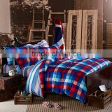 China factory plaid bed cover queen size duvet covers luxury european bedding set