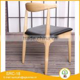 Modern Commercial Hotel Chair Wood shape with PVC Cushion Banquet Chair Dining Chair With Four Legs