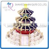 Mini Qute 3D Wooden Puzzle Temple of Heaven world architecture famous building Adult kids model educational toy gift NO.MJ402