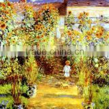 famous artists oil painting Claude Monet reproduction The Artist's Garden at Vetheuil 1880years