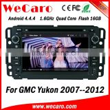 Wecaro WC-GU7036 Android 4.4.4 car dvd player touch screen ford gmc yukon system with gps 2007 - 2012 Wifi&3G