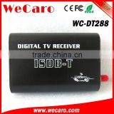 Wecaro WC-DT288 HD car digital tv receiver box isdb-t with dual tuner for Brazil Peru Argentina Philippines