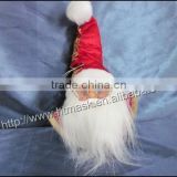 2014 new fabric,ceramic santa claus head decoration, reson christmas ornament,christmas decoration