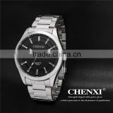 High quality stainless steel calendar watch , 3 ATM waterproof brand calendar watch for wholesale and OEM