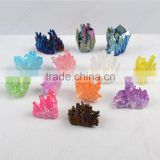 Angel aura titanium rainbow aura quartz coated crystal cluster healing stones                                                                         Quality Choice