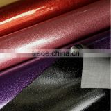 Shinny PVC artificial leather for shoes Foil Glitter pvc rexine leather