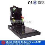 Chinese black granite tombstone headstone design wholesale