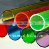 color Plexiglass tube,hard plastic color tube,extruded color tube,acrylic extrusion tube,round PMMA tube,