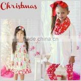 2016 new fashion girls boutique clothing baby christmas sets christmas girls clothing set