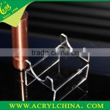 4mm crystal PMMA e-cigarette display with 40g, hot sale clear acrylic e-cigarette holder with 100*60*60mm