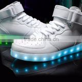 8colors High Quality 2016 Led lights shoes with USB Charging Luminous casual high cut shoes