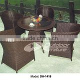 Outdoor Furniture Anti-UV PE Rattan Wicker Balcony Leisure Chair Set(DH-1418)