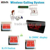 Wireless Calling Call Button Wireless Restaurant Pager Paging Systems Table Service Buzzer Call Button Restaurant Koqi Factory