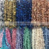 15.5 inches of Tiny Mystic Titanium AB Quartz Points Strand Bulk,Rainbow White Raw Crystals Stick Beads Point Pendants Jewelry