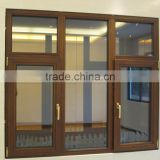 Villa wooden composite aluminum window, solid red oak window & lacquer finishing.                                                                                                         Supplier's Choice