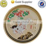 Professional manufacturer die casting 3D custom Zinc alloy coin for sale/challenge coin/metal coin