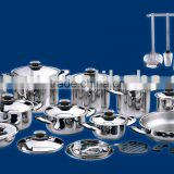 34pcs stainless steel cookware set with thermo control knob