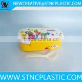 plastic bento lunch box with 2 dividers for food