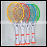 HXP hot sale good quality Multifunctional rechargeable mosquito racket supplier electric swatter with 7 LED light torch