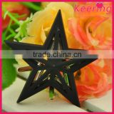 metal black star decorative heel shoe clip accessories
