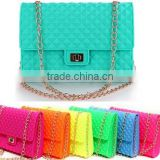 Luxury Jelly Bag Women Messenger Bag Handbag Silicone Case Cross body chain designer                                                                         Quality Choice