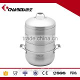 Stainless steel large capacity rice steamer, food display steamer
