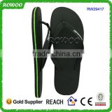 Factory Supply China Manufacturer Mens Black Rubber Flip Flops