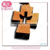 Religious Cross Wooden Keychain Pendant ( wood Art/crafts in laser-cut & engraving)charm