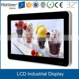 32 inch industrial wall mounted lcd HD advertising VGA AV input monitor, tft signal input lcd digital signage,tft lcd monitor