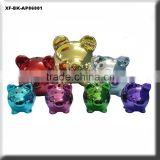 chrome plated ceramic piggy money box