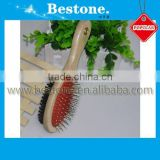 Wooden Double Side Pet Comb Brush Cleaning